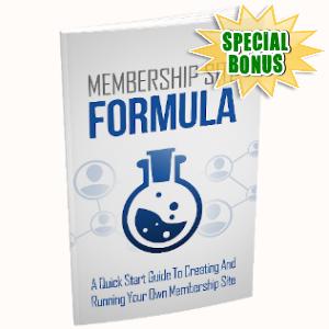 Special Bonuses - August 2019 - Membership Site Formula