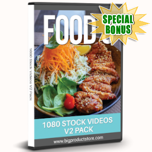 Special Bonuses - August 2019 - Food 3 - 1080 Stock Videos V2 Pack