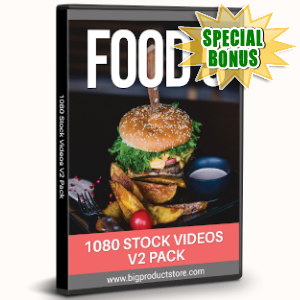 Special Bonuses - August 2019 - Food 5 - 1080 Stock Videos V2 Pack