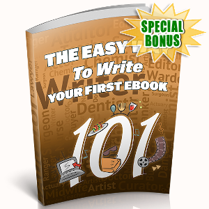 Special Bonuses - September 2019 - The Easy Way To Write Your First eBook