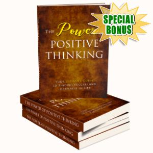 Special Bonuses - October 2019 - The Power Of Positive Thinking Pack V2