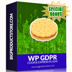 Special Bonuses - October 2019 - WP GDPR Cookie Express Plugin