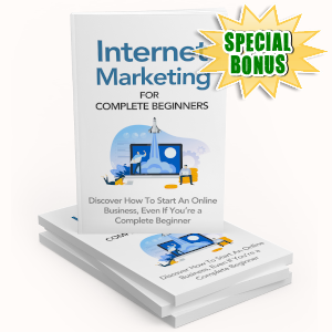 Special Bonuses - October 2019 - Internet Marketing For Complete Beginners Pack