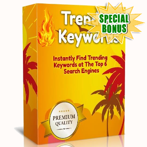 Special Bonuses - November 2019 - WP Trending Keywords Plugin