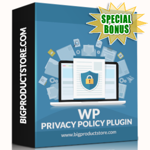 Special Bonuses - November 2019 - WP Privacy Policy Plugin