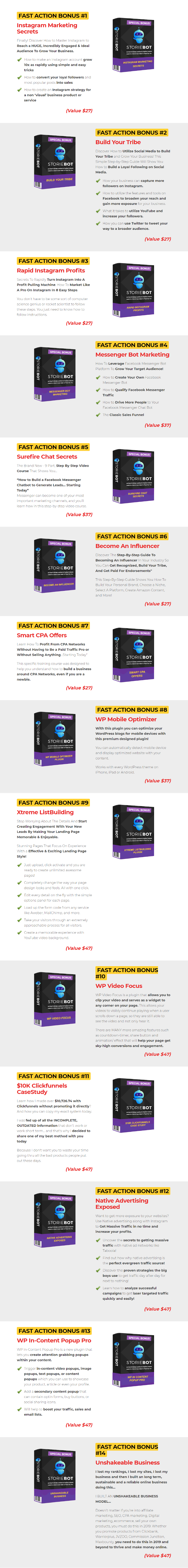StorieBot Bonuses