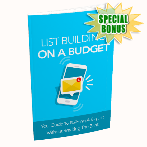 Special Bonuses - December 2019 - List Building On A Budget