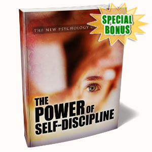 Special Bonuses - December 2019 - The Power Of Self-Discipline Pack