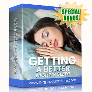 Special Bonuses - March 2020 - Getting A Better Night's Sleep