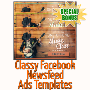 Special Bonuses - March 2020 - Classy Facebook Newsfeed Ads Templates