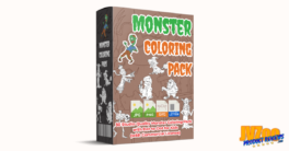 Monster Coloring Pack with Dot-to-Dot Review and Bonuses