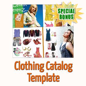 Special Bonuses - April 2020 - Clothing Catalog Template