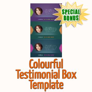 Special Bonuses - April 2020 - Colourful Testimonial Box Template