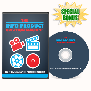 Special Bonuses - April 2020 - Info Product Creation Machine Video Series Pack