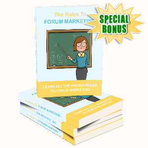 Special Bonuses - April 2020 - The Rules To Forum Marketing
