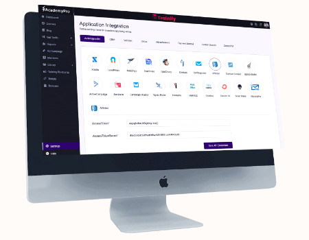 AcademyPro Features - Seamless integrations with TOP Autoresponders