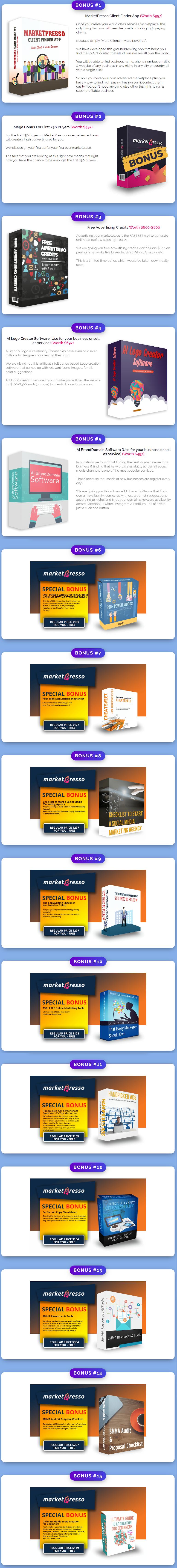 MarketPresso V2 Bonuses
