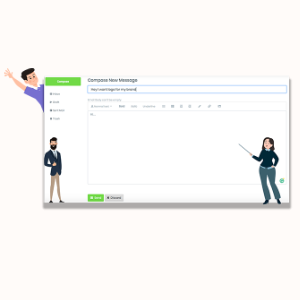 MarketPresso V2 Features - Inbuilt Messaging System With Clients