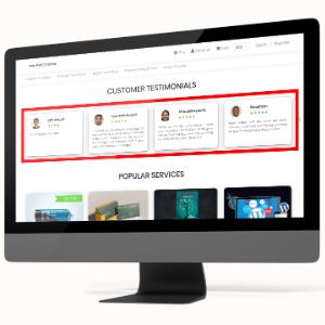MarketPresso V2 Features - Testimonials & Reviews