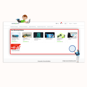 MarketPresso V2 Features - Browsing History
