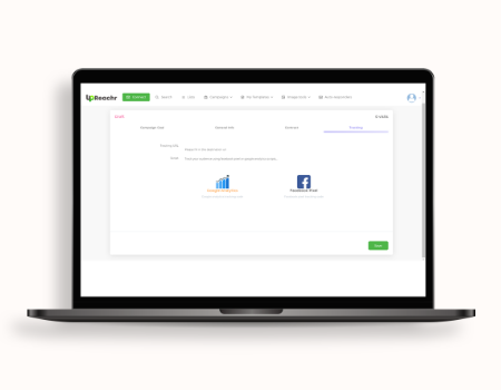 Upreachr Features - Full DEEP tracking with easy to understand analytics and smoothly integrate with facebook pixels and google analytics in 1 click.