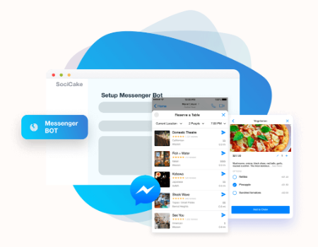 SociCake Agency Features - Messenger Bot
