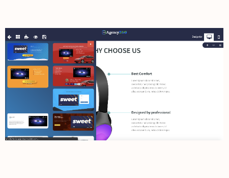 VR Agency 360 Features - Page Builder